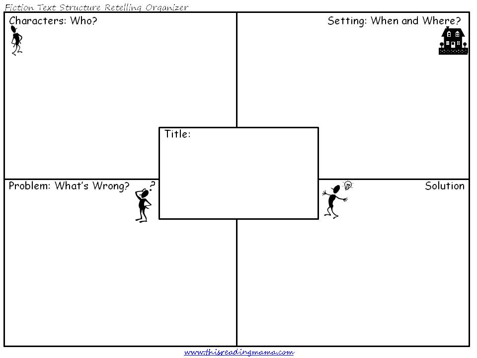 Elementary Story Map Graphic Organizer http://thisreadingmama.com/comprehension/text-structure/fiction-text-structure/