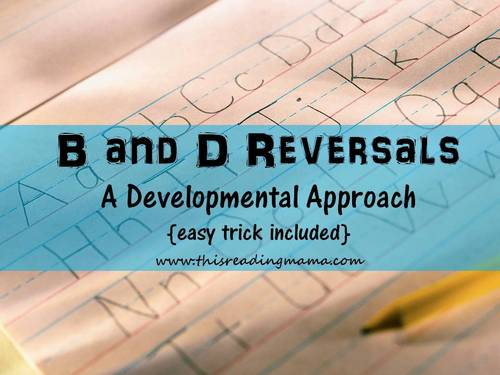 photo of B and D Reversals: A Developmental Approach {easy trick included} | This Reading Mama