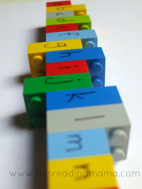 making LEGO letters for spelling