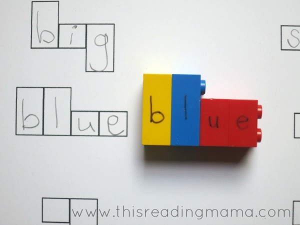 shapes of words with LEGO Letters