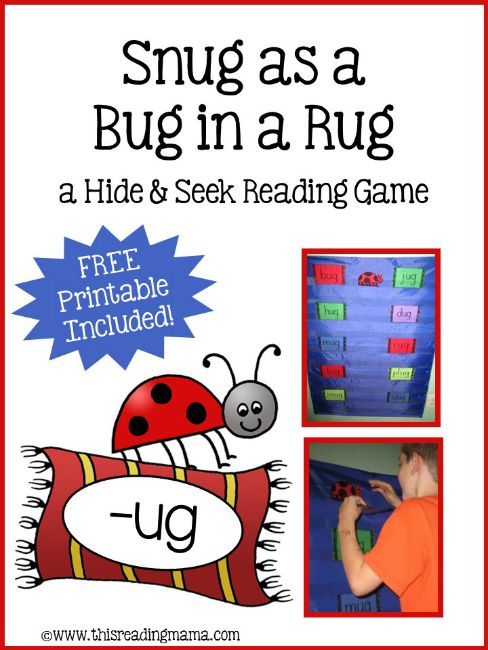 Snug As A Bug In Rug Activity Hide And Seek Reading