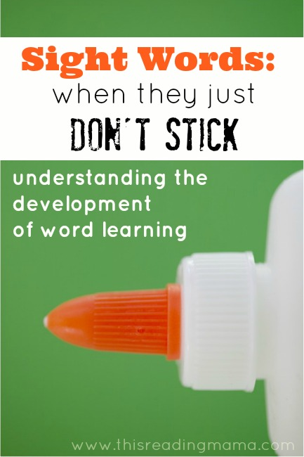 Sight Words: When They Just Don't Stick
