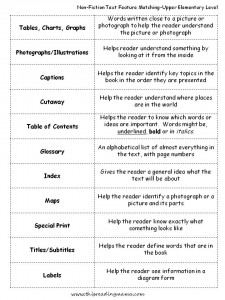 Copy Of Nonfiction Text Features - Lessons - Tes Teach