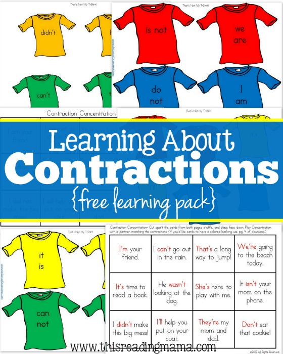 Free contraction printables free contractions learning pack this reading mama ibookread Download