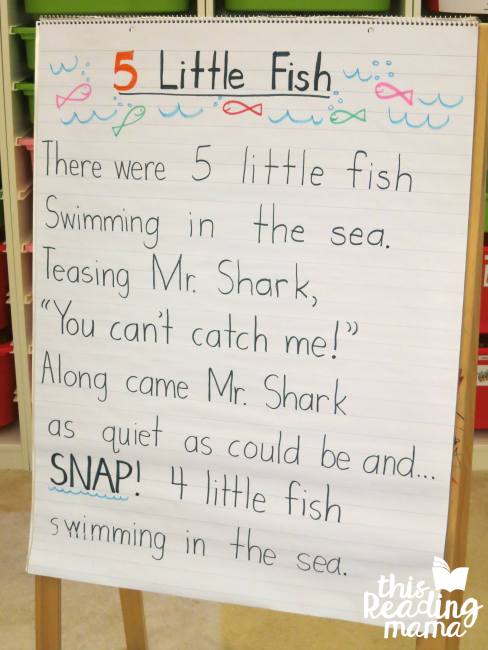 teach print awareness with a favorite song