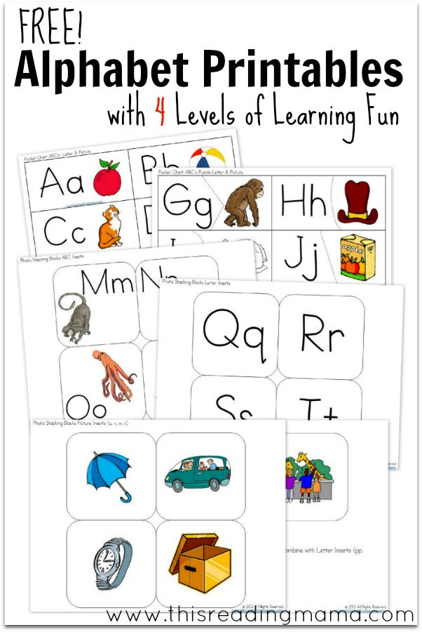 FREE Alphabet Printables with 4 Levels of Learning - This Reading Mama