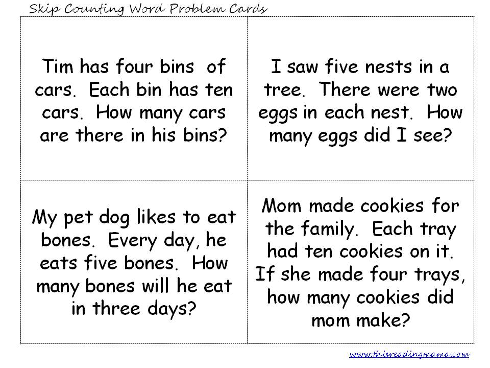 Skip Counting Word Problems This Reading Mama