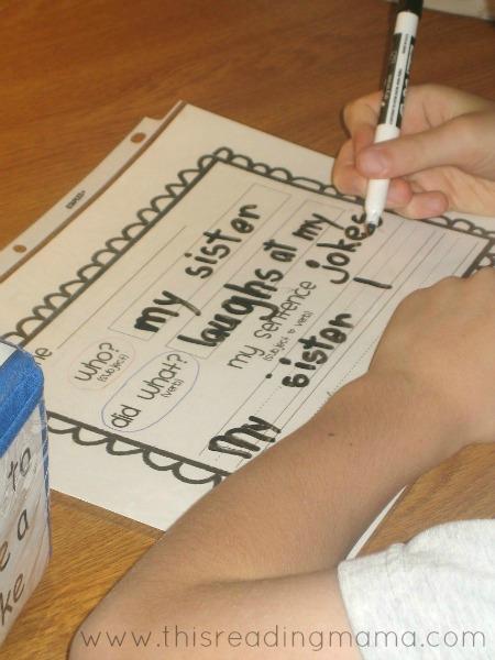 recording complete sentences
