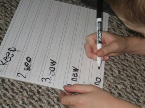 I spy, sight word game