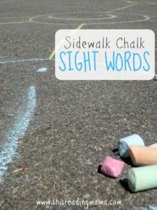 Sidewalk Chalk Sight Words Game