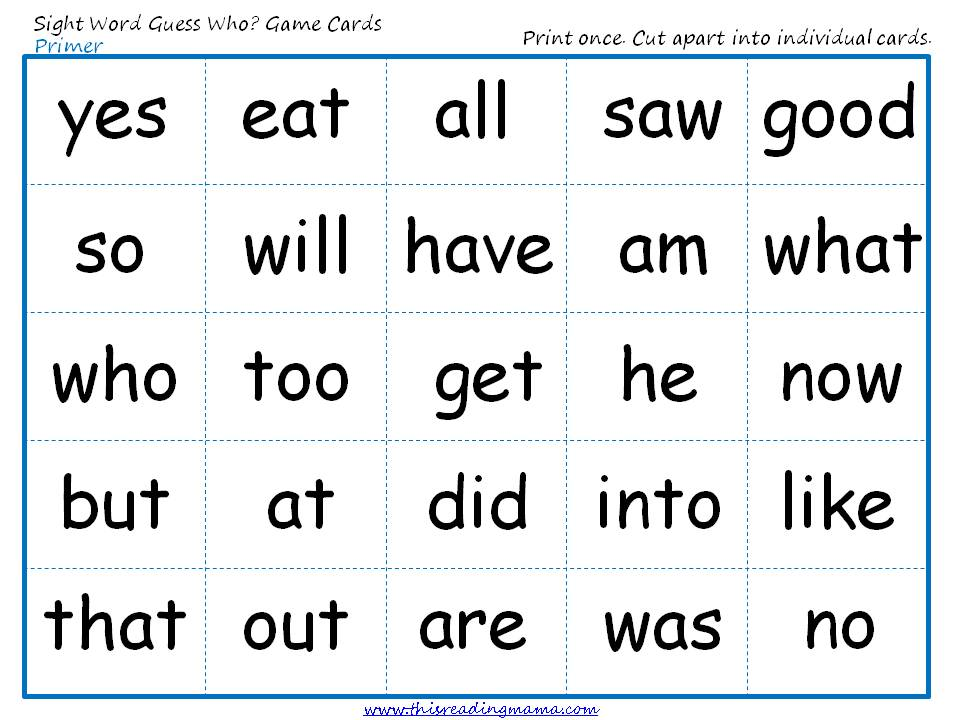 Flash printable  Sight games Cards Printable sight Kindergarten kindergarten word Words