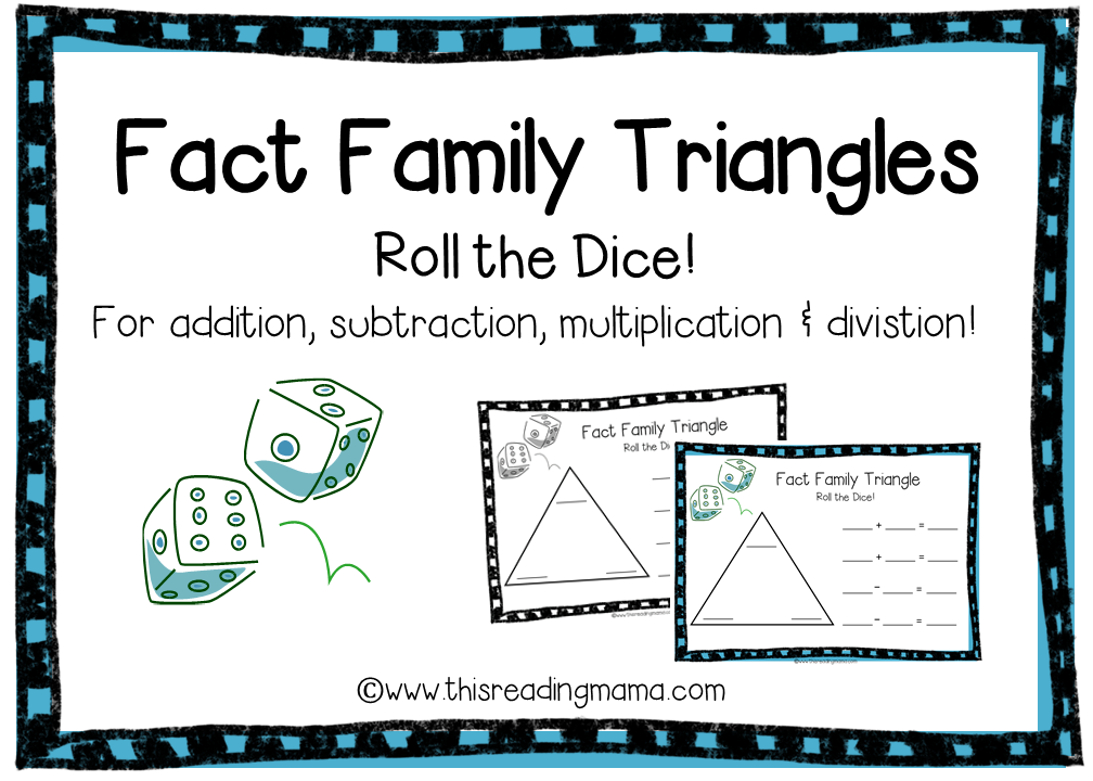 Fact Family Triangles FREE Download – Fact Family Math Worksheets