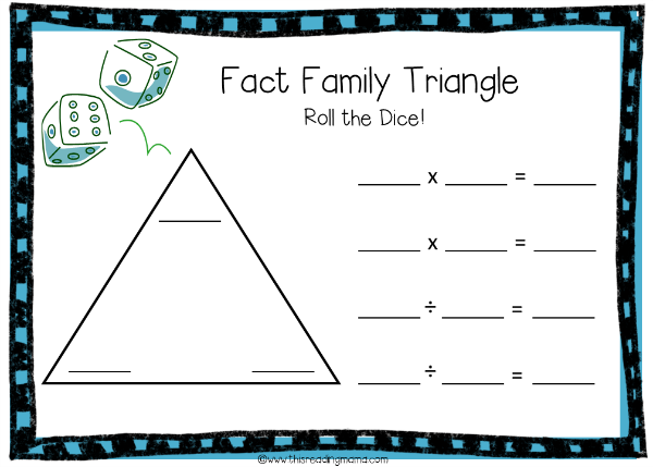Number Names Worksheets fact family worksheets free Free – Fact Family Worksheets Multiplication and Division