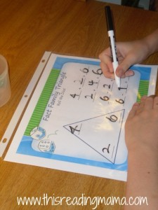 fact family game with dice