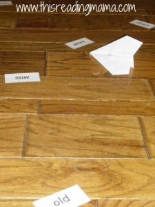 paper airplane, sight words
