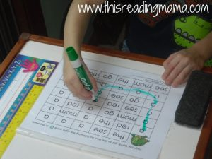 Preschool Sight Word Maze