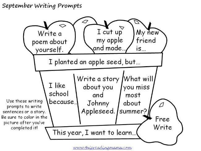 writing ideas for kids Journal writing prompts: these high-interest prompts will encourage kids to describe, explain, persuade, and narrate every day of the school year.