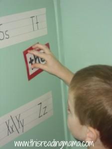 preschool word wall, the