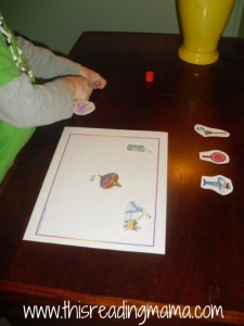 rhyming cut and paste activity