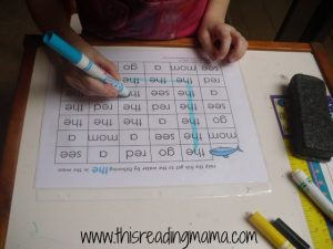 sight word maze with THE