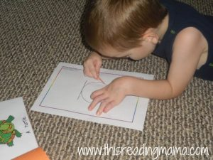 sight word poke page with a