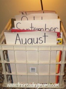 using crates to organize books