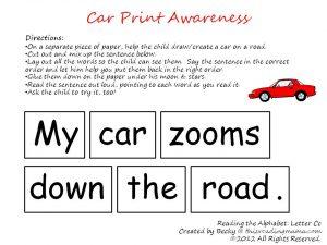 Car Print Awareness