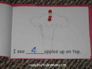 apples up on top emergent reader