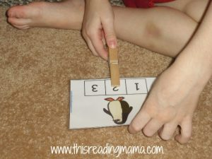 clothes pins and syllables