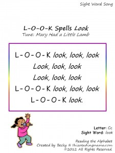 look sight word song