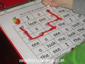 preschool word maze