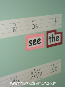 word wall for preschooler