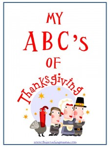 ABCs of Thanksgiving Title Page, free printable