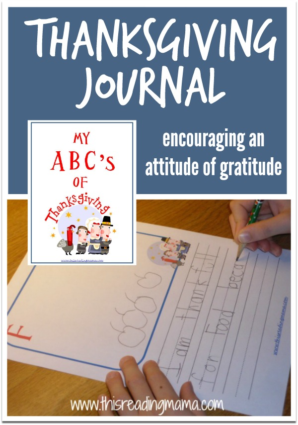 Daily Thanksgiving Journal - My ABCs of Thanksgiving (FREE) - This Reading Mama