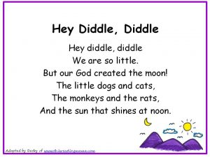 Photo of Hey Diddle Diddle Christian Nursery Rhyme
