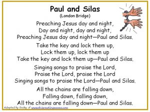 Photo of Paul and Silas Christian Nursery Rhyme