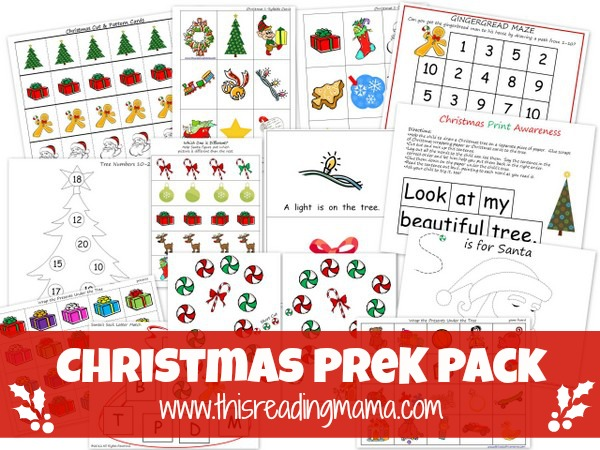 Free Christmas PreK Pack {This Reading Mama}