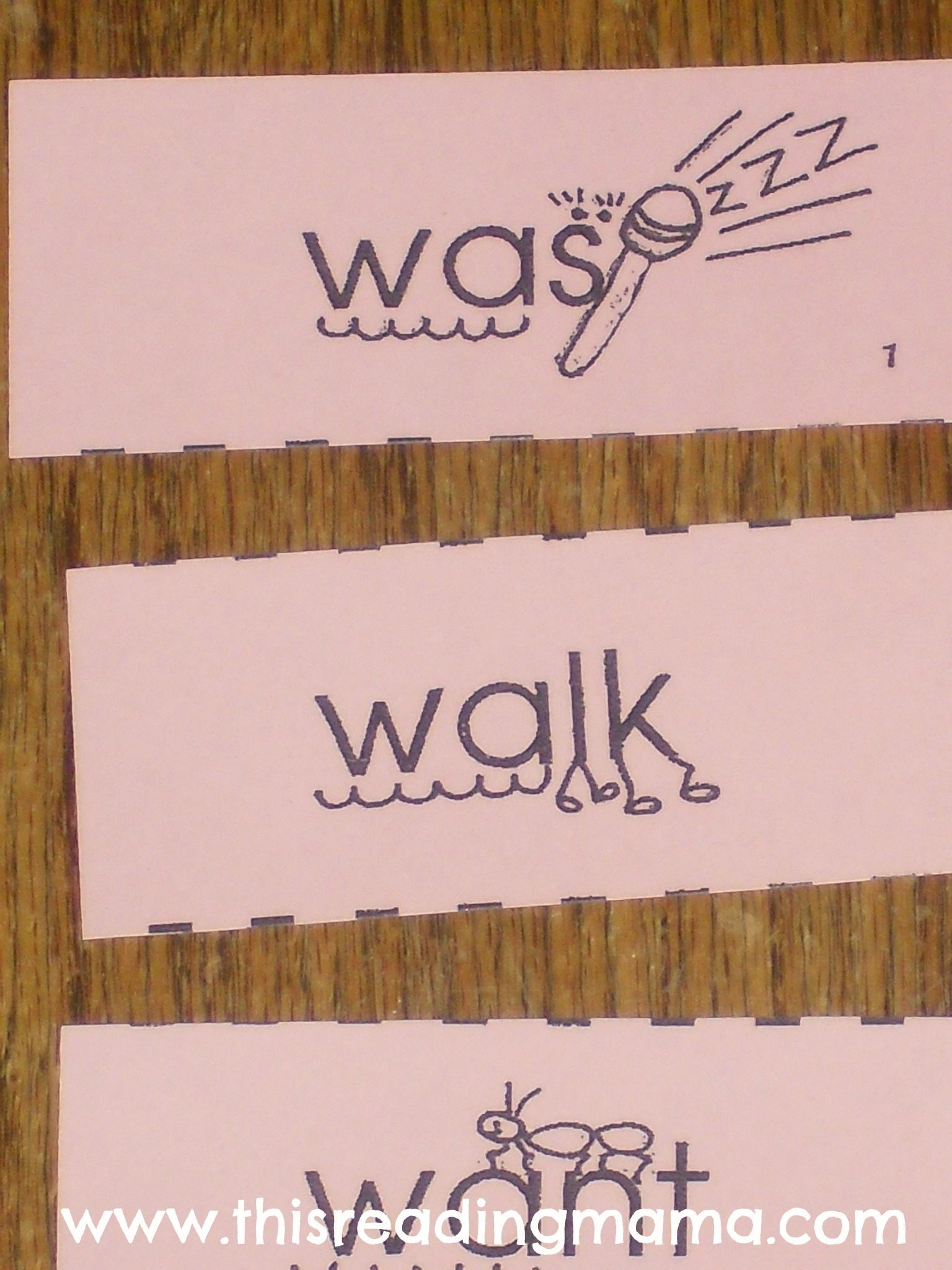Worksheet Mnemonic Words mnemonic cues for wa sight words this reading mama words