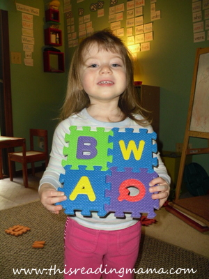 photo of foam alphabet puzzles