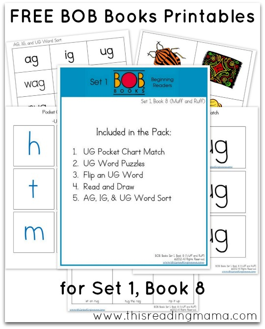 FREE BOB Books Printables Set1-Book 8 This Reading Mama
