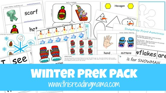 photo of FREE Winter PreK Pack-This Reading Mama