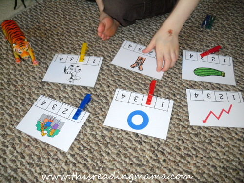 photo of Counting and Clipping Syllables {This Reading Mama}