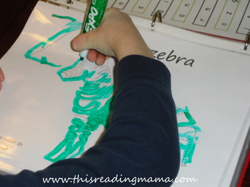 photo of FREE Zebra Tracing Page {This Reading Mama}