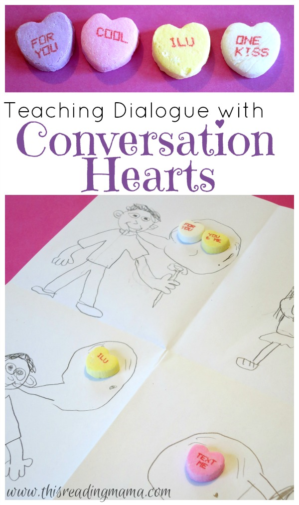 Teaching Dialogue with Conversation Hearts | This Reading Mama