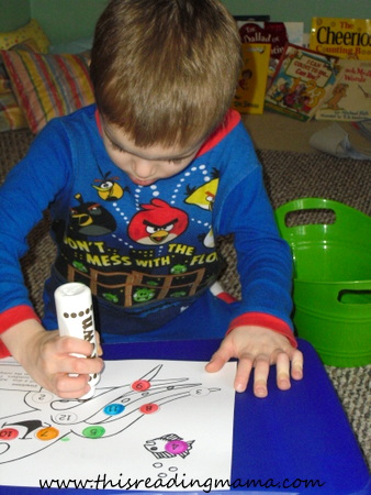 Roll and Stamp and Number with Octopus Theme | This Reading Mama