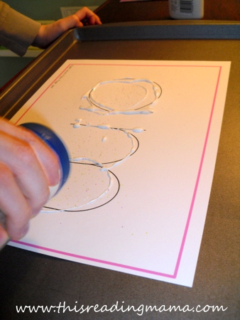 photo of Using glue and glitter to teach sight words | This Reading Mama