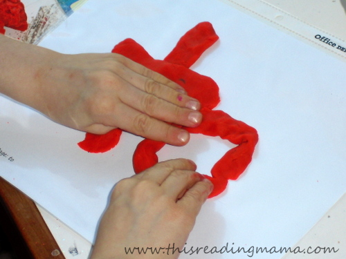 photo of playdough mat with sight words | This Reading Mama