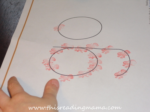 photo of stamp the sight word | This Reading Mama