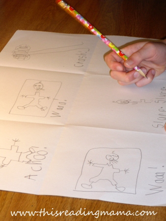 photo of writing and drawing otomatopoeia stories   This Reading Mama