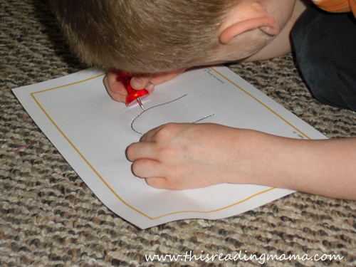 photo of poke page activity with sight word (in) | This Reading Mama